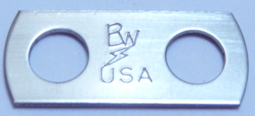 two-hole lug washer with trademarked Lightning Bolt